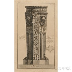 Giovanni Battista Piranesi (Italian, 1720-1778)      Ars antica   (Ancient Altar)