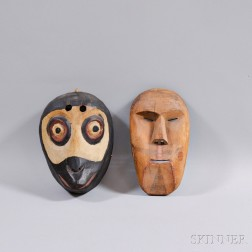Two Carved Wood Masks