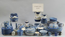 Large Group of Blue and White Dorchester Pottery