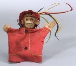 Mohair and Felt Monkey Hand Puppet