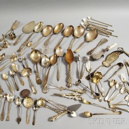 Group of Mostly Coin and Sterling Silver Flatware
