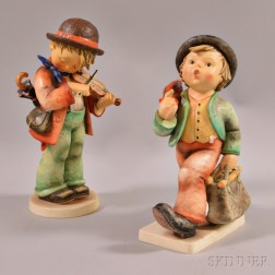 Two Large Hummel Figures