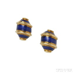 18kt Gold and Enamel Earrings, Schlumberger for Tiffany & Co.
