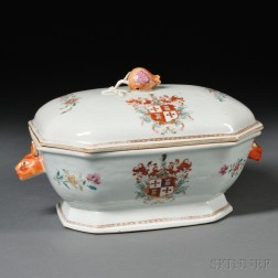 Chinese Export Porcelain Armorial Covered Tureen
