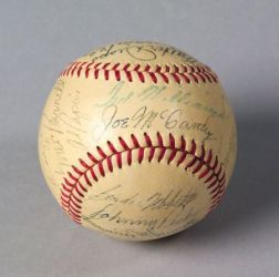 1950 Boston Red Sox Autographed Baseball