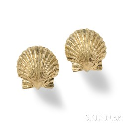 18kt Gold Earrings, Schlumberger, Tiffany & Co