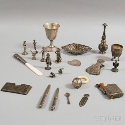 Miscellaneous Group of Sterling Silver and Silver-plated Articles