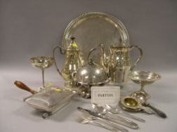 Approximately Thirty-Pieces of Sterling and Silver Plated Tableware and a Community Silver Plated Flatware   Set