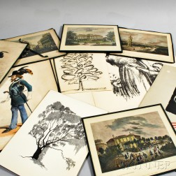Group of European Lithographs and Prints