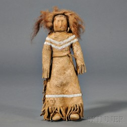 Plains or Plateau Beaded Hide Doll
