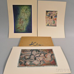 Paul Klee Portfolio with Ten Prints