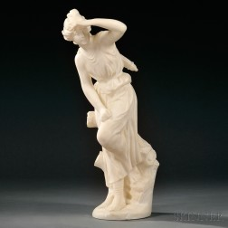 Italian School, Early 20th Century       Alabaster Figure of Diana the Huntress