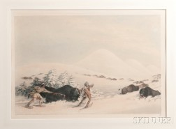 Framed Print Attributed to George Catlin (1796-1872)