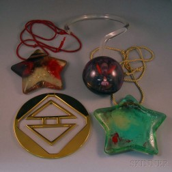 Four Pieces of Oversized Costume Jewelry