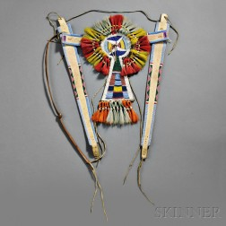 Crow Bridle with Beaded Ornament