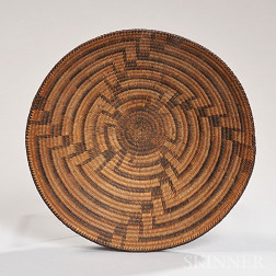 Pima Miniature Coiled Basketry Bowl