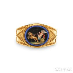Archaeological Revival Gold and Micromosaic Bracelet, Ernesto Pierret,