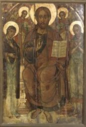 Monumental Painted Russian Icon