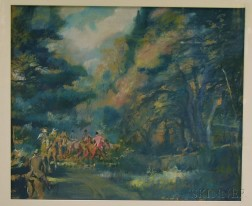 George Hand Wright (American, 1872-1951)      Hunting Party.