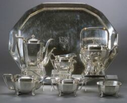 Tiffany & Co. Sterling Seven Piece Tea and Coffee Service