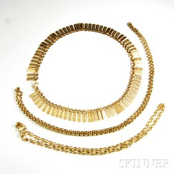 Three 9kt Gold Necklaces