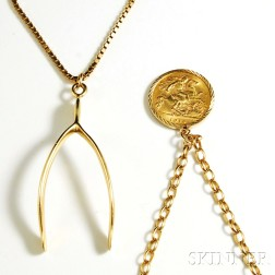 Two 9kt Gold Necklaces
