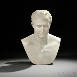 After Antoine-Denis Chaudet (French, 1763-1810)       White Marble Bust of Napoleon