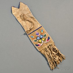 Blackfoot Beaded Hide Pipe Bag