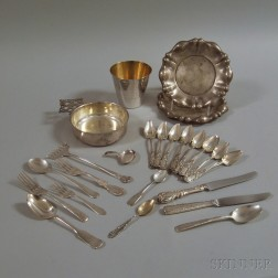 Group of Mostly Silver Tableware and Flatware