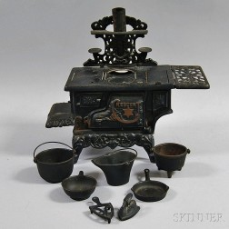 Crescent Cast Iron Miniature Stove
