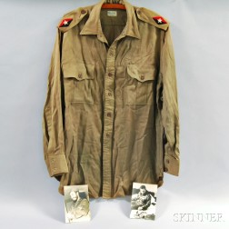 Olive Rayon Shirt Worn by Fidel Castro