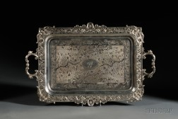 Chinese Export Silver Two-handled Tea Tray