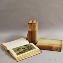 Four Volume Set of John Charles Phillips' Natural History of Ducks