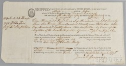 Myers, Moses (1753-1835) Bill of Lading for the Ship John  , 21 March 1796.