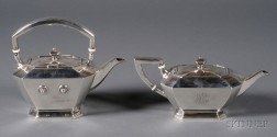 "Two Gorham Sterling ""Fairfax"" Teawares"