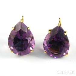 18kt Gold and Amethyst Drop Earrings, Paloma Picasso, Tiffany & Co.