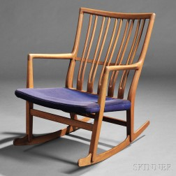 Hans J. Wegner for Mikael Laursen Rocking Chair