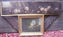 Two Framed 19th Century American School Oil on Canvas Paintings