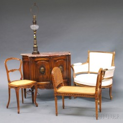 Louis XVI-style Marble-top Commode and Other Items