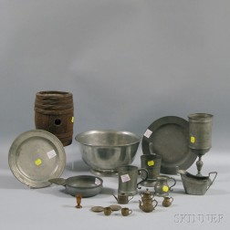 Group of Pewter and Other Objects