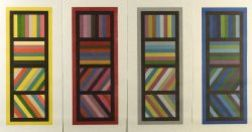 Sol Lewitt (American, b. 1928)  Bands of Color in Four Directions