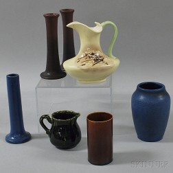 Seven Pieces of American Art Pottery