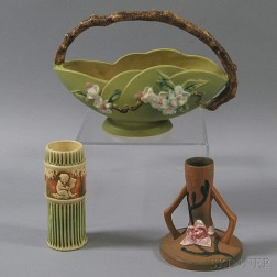 Three Pieces of Roseville Pottery