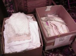 Box of Assorted Table Linens and Textiles