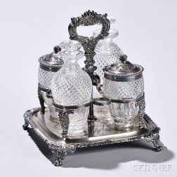 George III/IV Sterling Silver Condiment Set