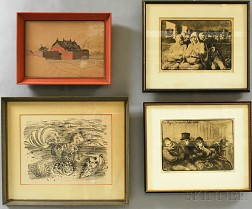 Four Framed Prints:      Raoul Dufy (French, 1877-1953), Petit Cheval Marin ou Cheval aux Coquillages