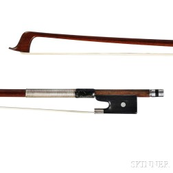 German Silver-mounted Violin Bow, Otto Hoyer, c. 1920