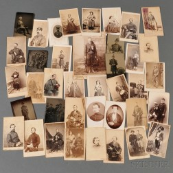 Thirty-nine Civil War Related Tintypes, Carte-de-visite's, and Cabinet Cards