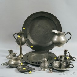 Seventeen Pieces of Pewter