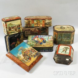 Eight Exotic-themed Advertisings Tins